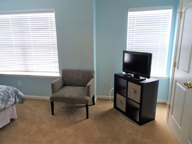 Guest Bedroom - sitting area with TV