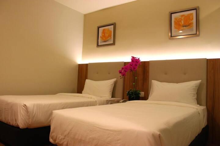 Great Twin Room Near Kuala Lumpur Market