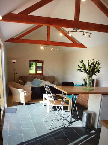 Quiet, secluded cosy pool house - Oxfordshire - Kabin