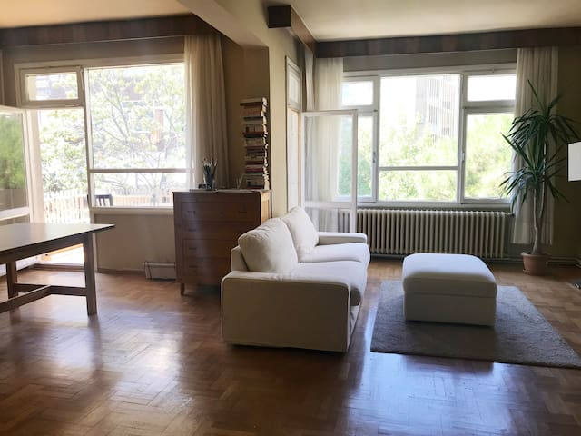 Private Room in Spacious Bright Apt with Workspace