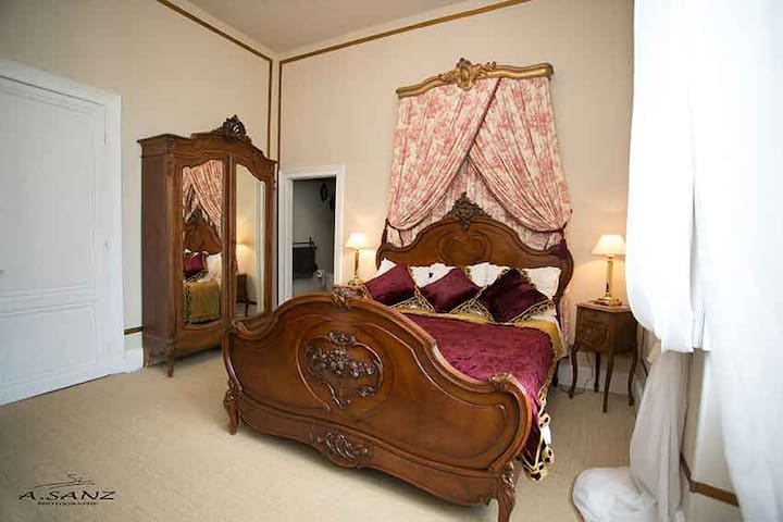 Luxury Chateau Chambre Louis XV - Saint-Christoly-de-Blaye - Гестхаус