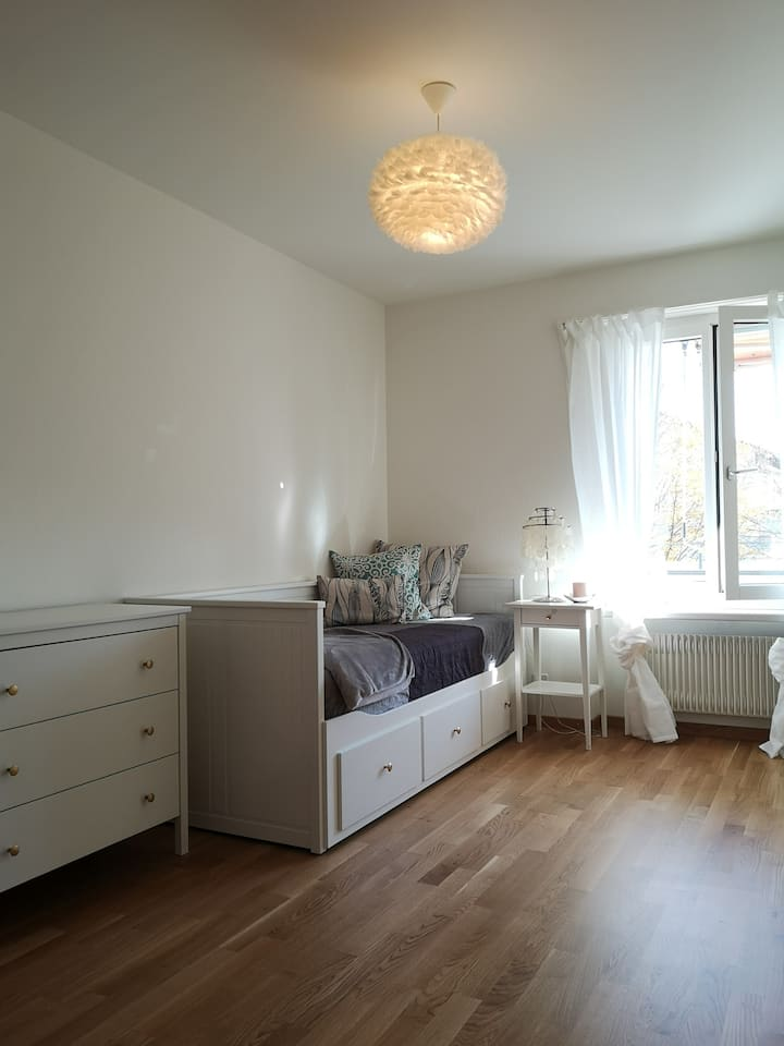 Cozy guest bedroom,  Zurich lake 10min by feet