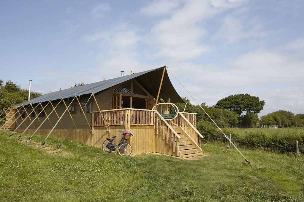 Safari lodges of Glamping The Wight Way