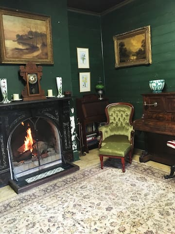 The original Sitting Room with open fire.