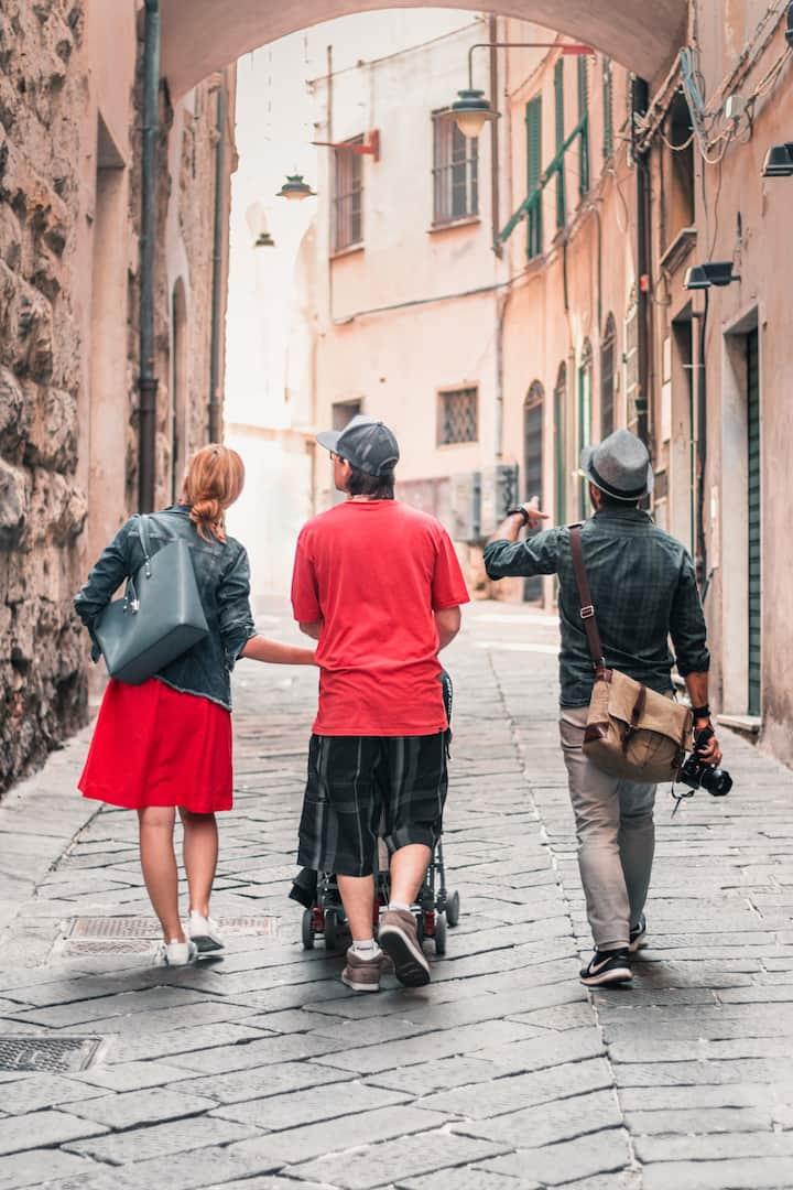 Walking around the vicoli!