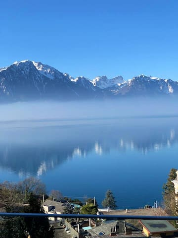 Blue Léman panoramique view