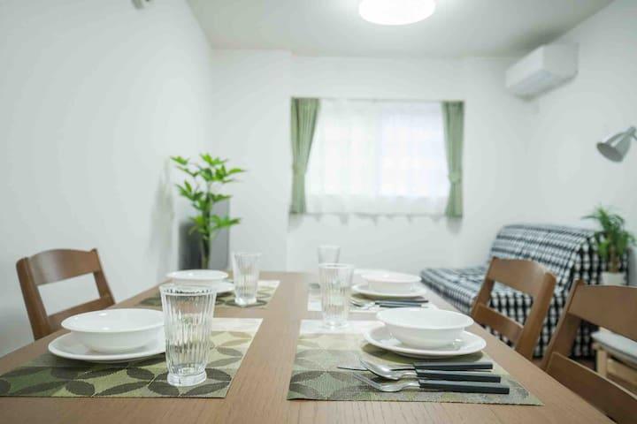 大阪超级优惠独立3层独栋大别墅,交通方便,可供多人入住