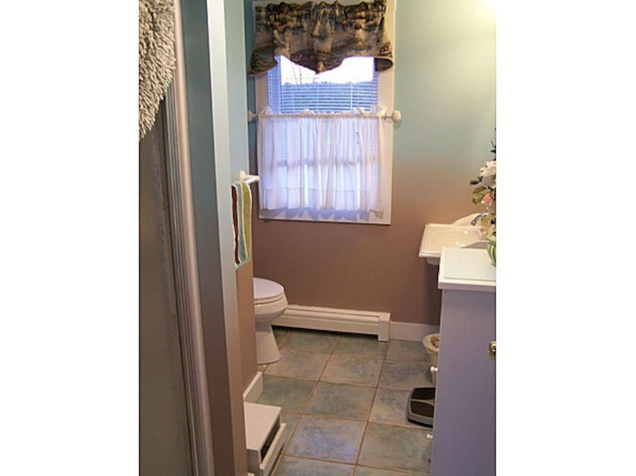 1st Floor Private Bathroom with Standup Shower Services Canopy Bedroom