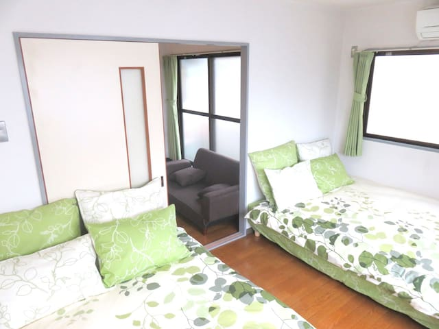 3min to station!8min to USJ!2Double Bed! #2 - Konohana-ku, Ōsaka-shi - Appartement