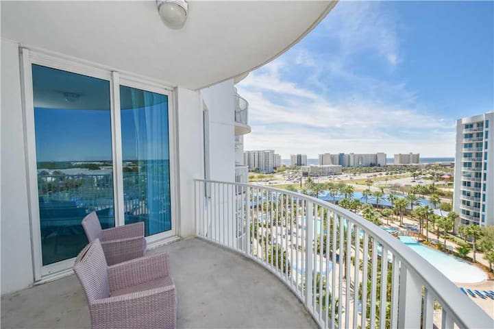 Two-bedroom resort condo w/private balcony & pool view!