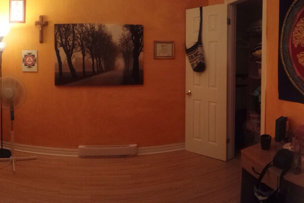 "Yoga Room: In Process of Transformation to a ""Cool TV Room"""