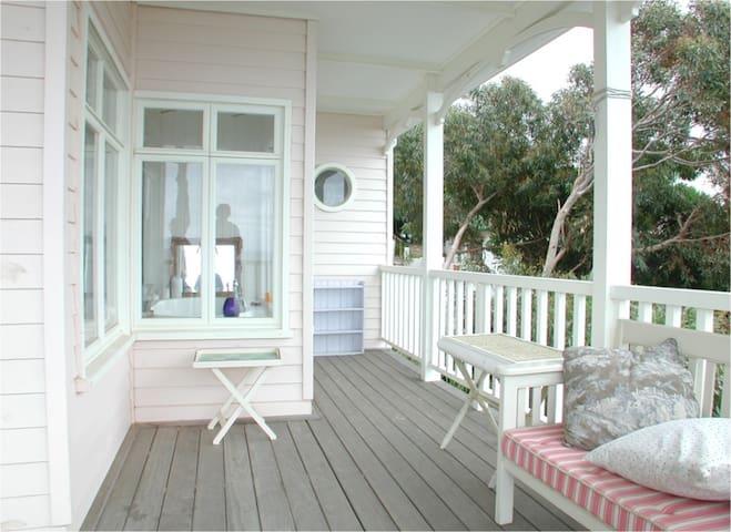 Deck with garden view