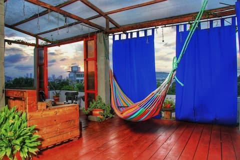 Apartamento con terraza panorámica