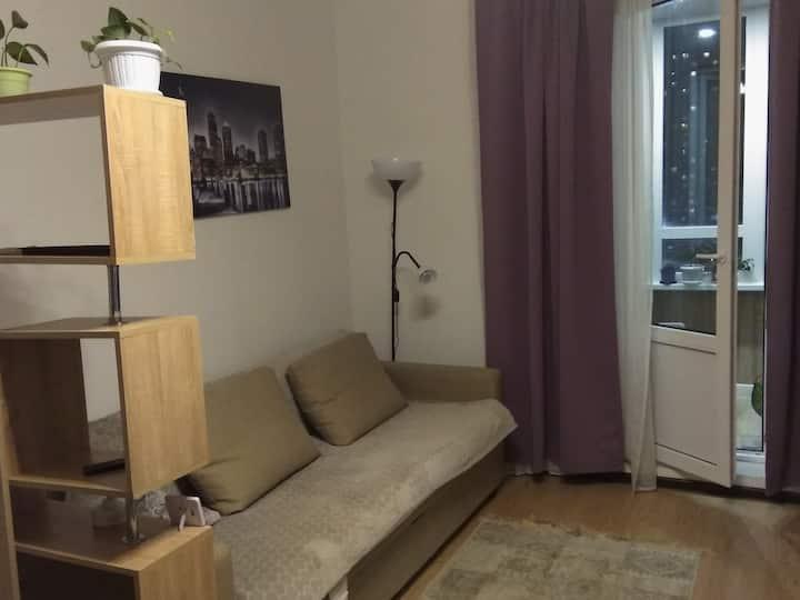Cozy studio near Devyatkino