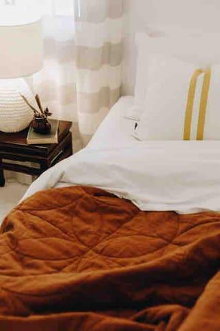 2 x single beds in second bedroom