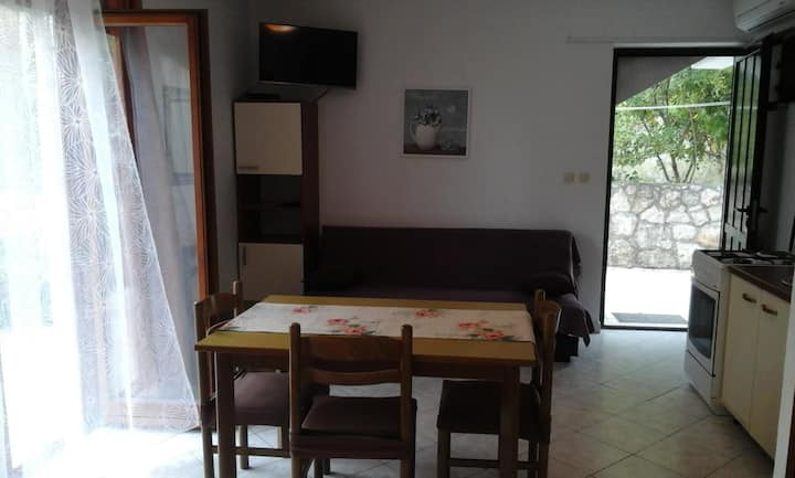 Studio flat with terrace Zavala, Hvar (AS-8710-a)