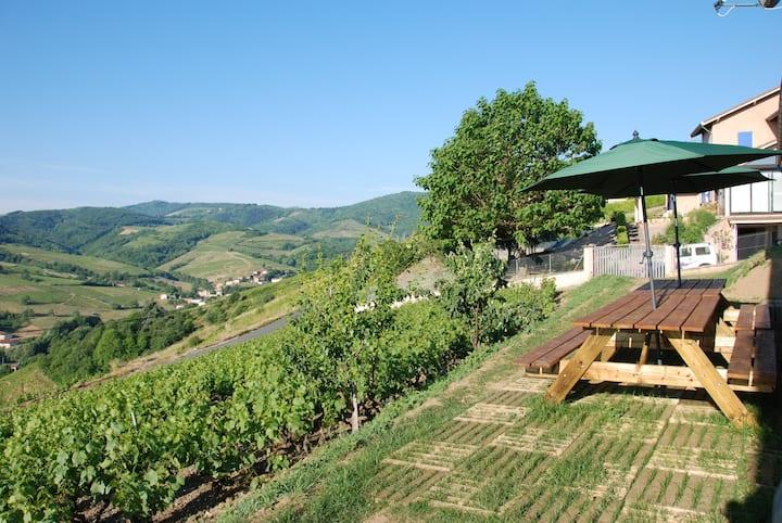 Grand gite dans le vignoble du Beaujolais