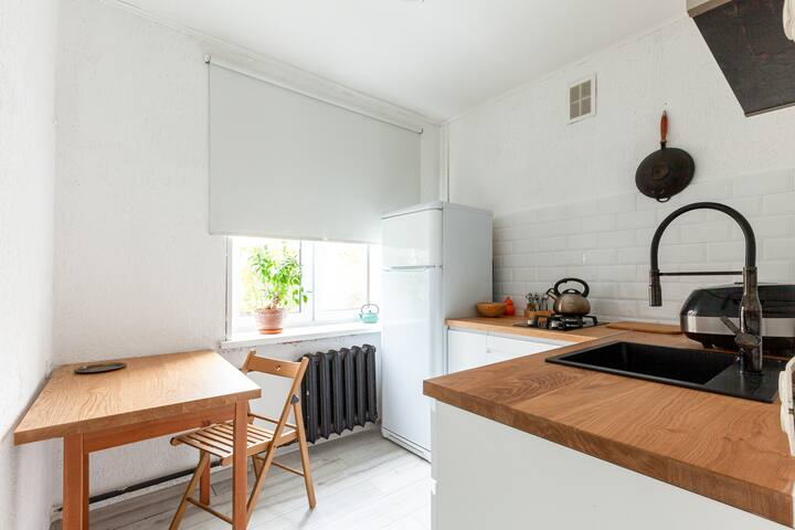 Minimalistic bright apartment near Novodevichy