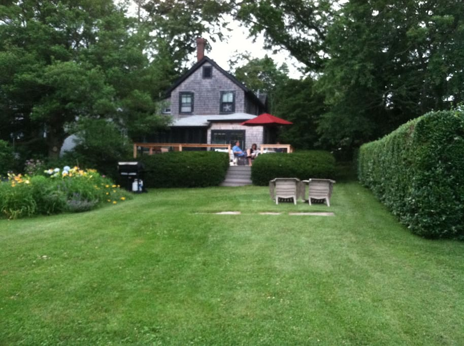 front lawn and cottage
