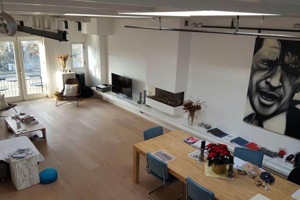 Unique loft apartment in jordaan huoneistot for Design apartment jordaan amsterdam