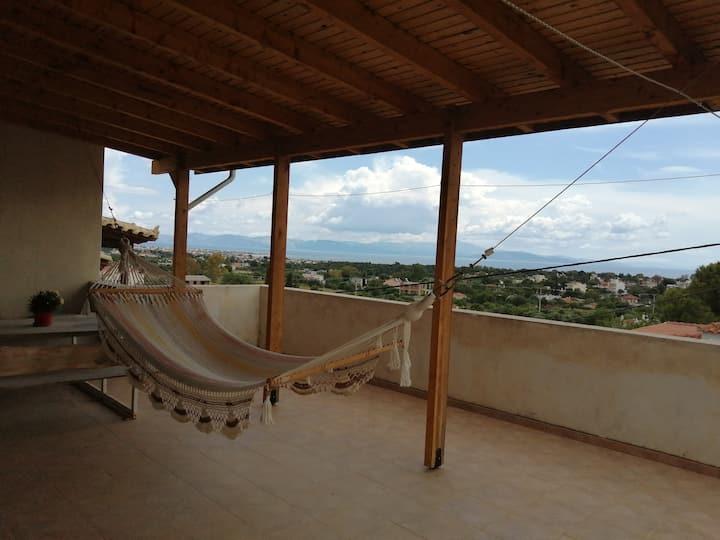 Wonderfull sea view house near the airport