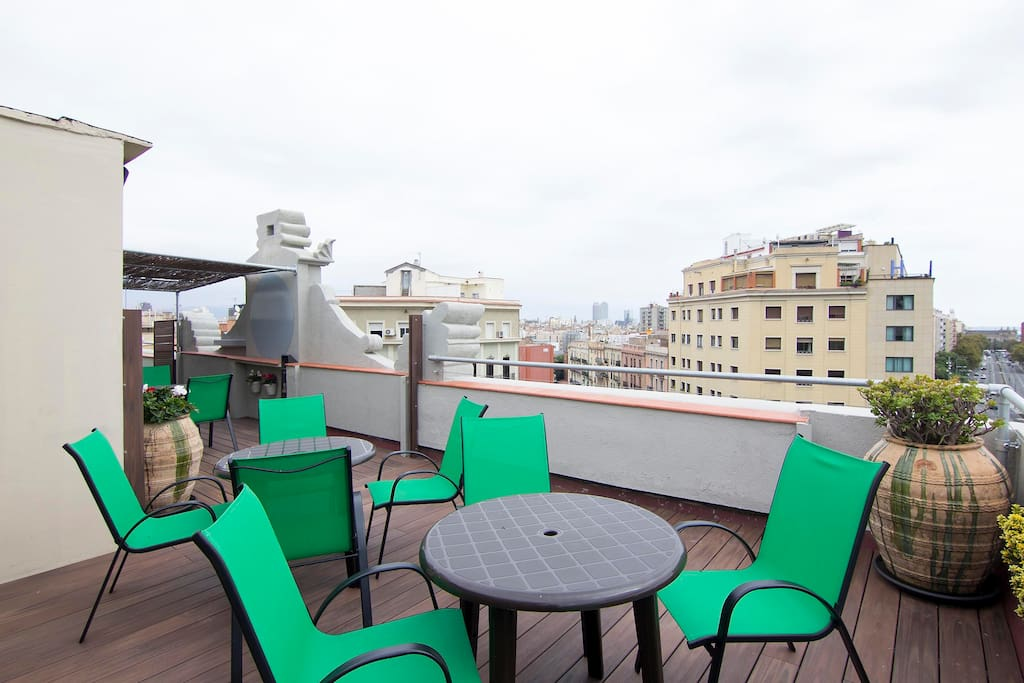 Community terrace with views