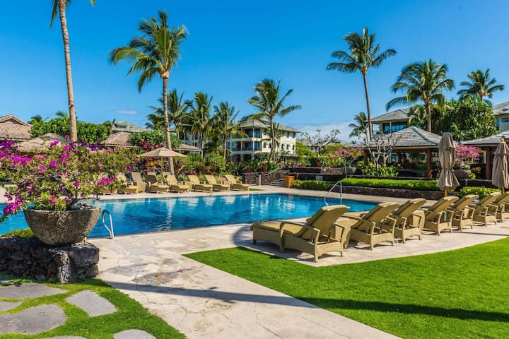 🏝Beachfront Kōlea, Spacious 2B/2B, BBQ on Lanai