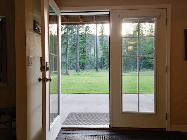 Double French Doors Open Out Onto Private Patio