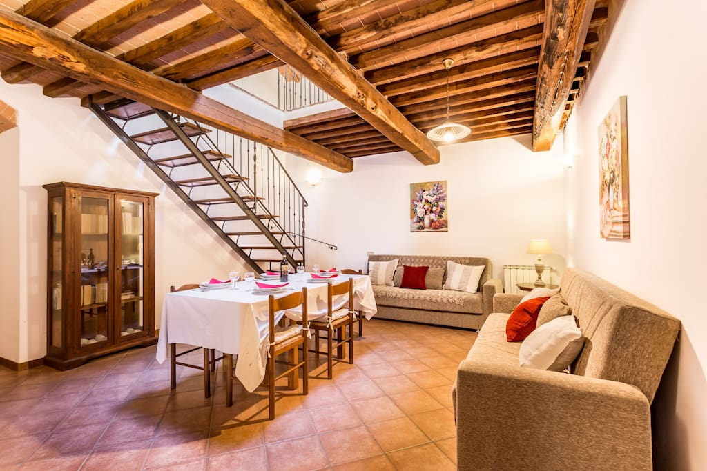 living room apartment Gelso Casa Podere Monti