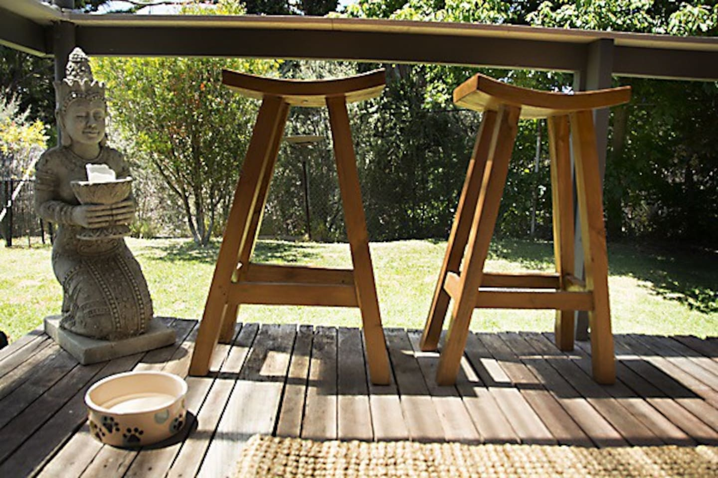 Enjoy the birdlife with a refreshment on the deck