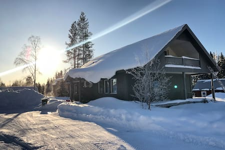 Fritidshus i Kåbdalis vid skidanläggningen