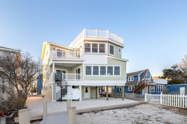 Brand New Waterfront Home on LBI! - Ship Bottom - Huis