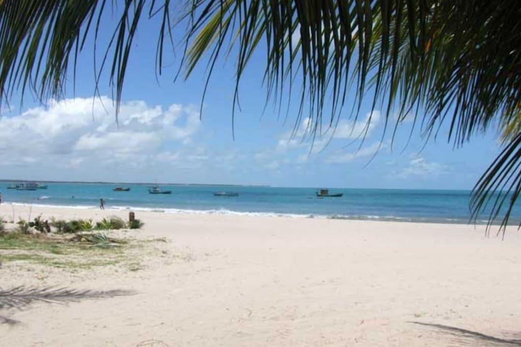 A praia da frente