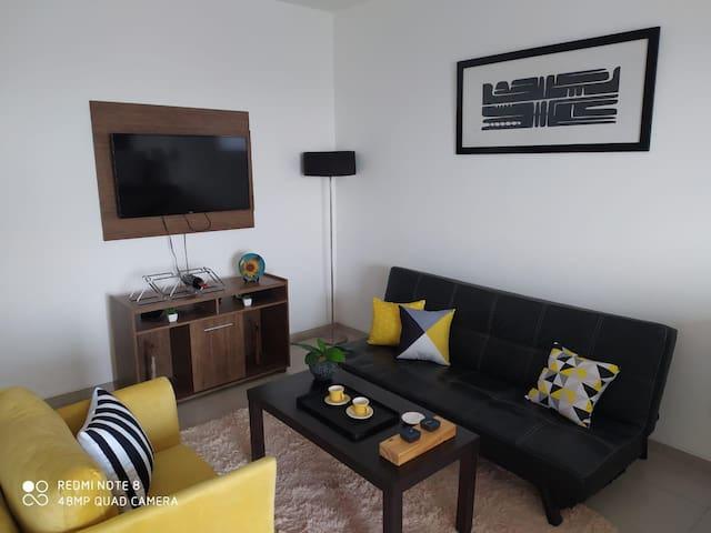 Living con TV + Chromecast