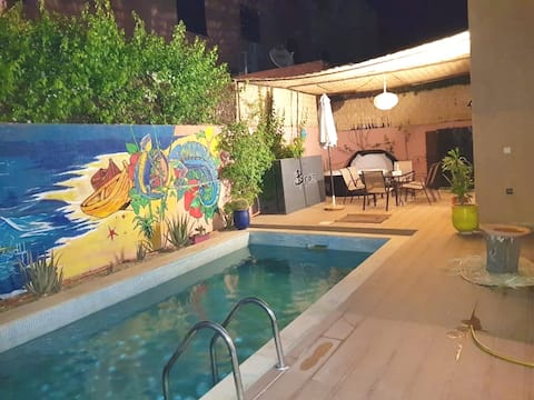 Villa with 3 bedrooms in Marrakech, with private pool, enclosed garden and WiFi