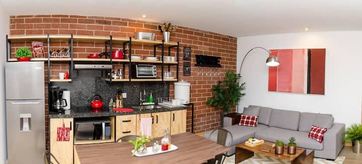 Nuevo apartamento familiar con desayuno incluido