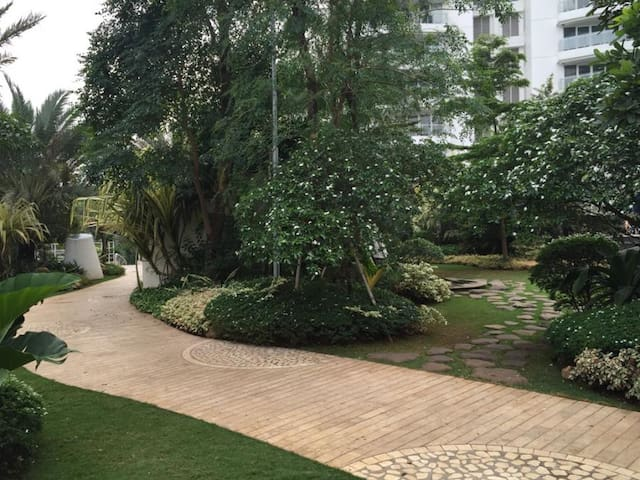 Jogging Track with green environment