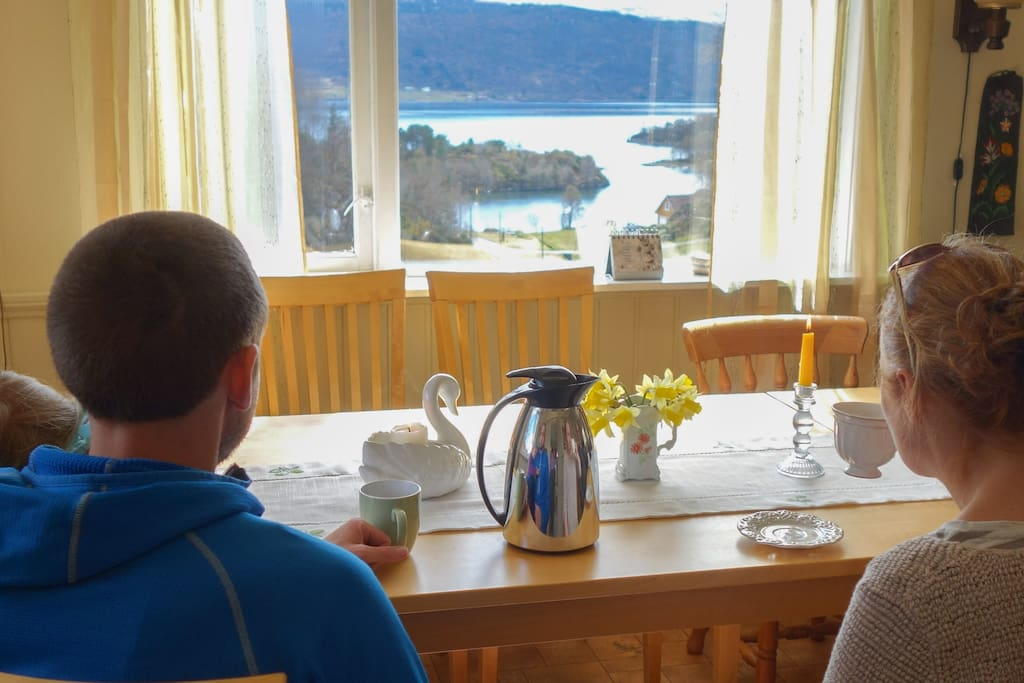 A wonderful view to  Nordfjord from the house.