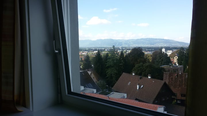 Lovely room with view to the Lake of Constance
