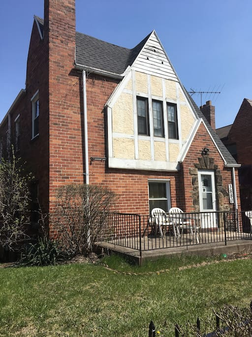 Welcome to Pittsburgh!  A whole house for you: only minutes from Carnegie Mellon, the University of Pittsburgh, and UPMC's  premier hospitals.
