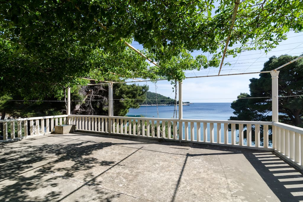 Terrace overlooking sea