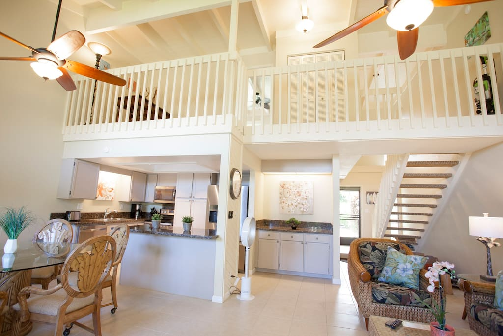 Living, Dining, Kitchen, Loft