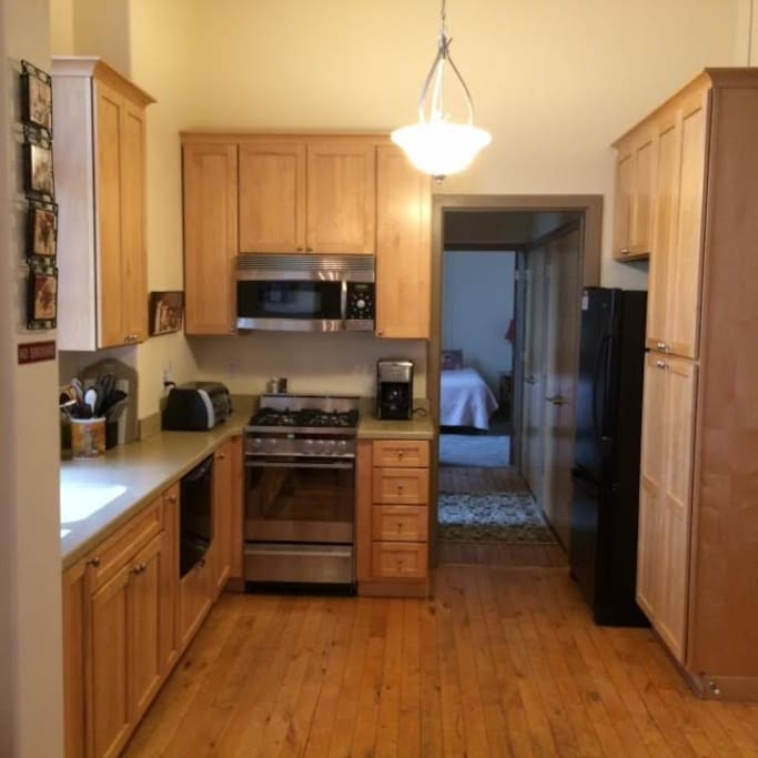 Fully-equipped kitchen with upscale appliances