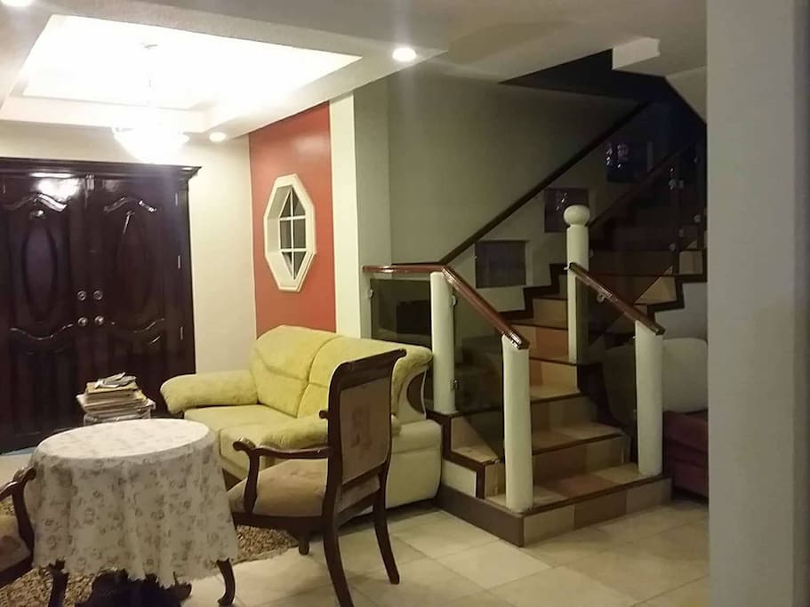 Staircase to rooms
