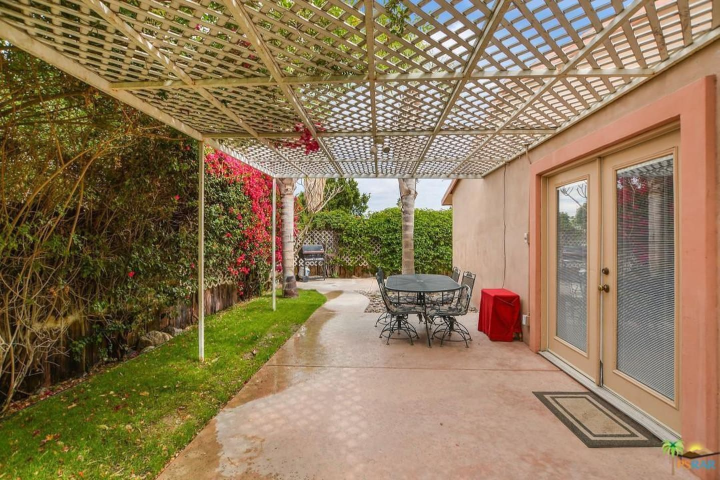 Beautiful private large patio, right outside French Door exit from extra Large Master Bedroom