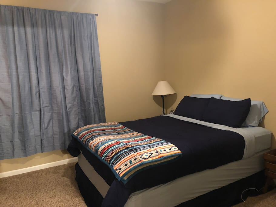 Private room with blackout curtains
