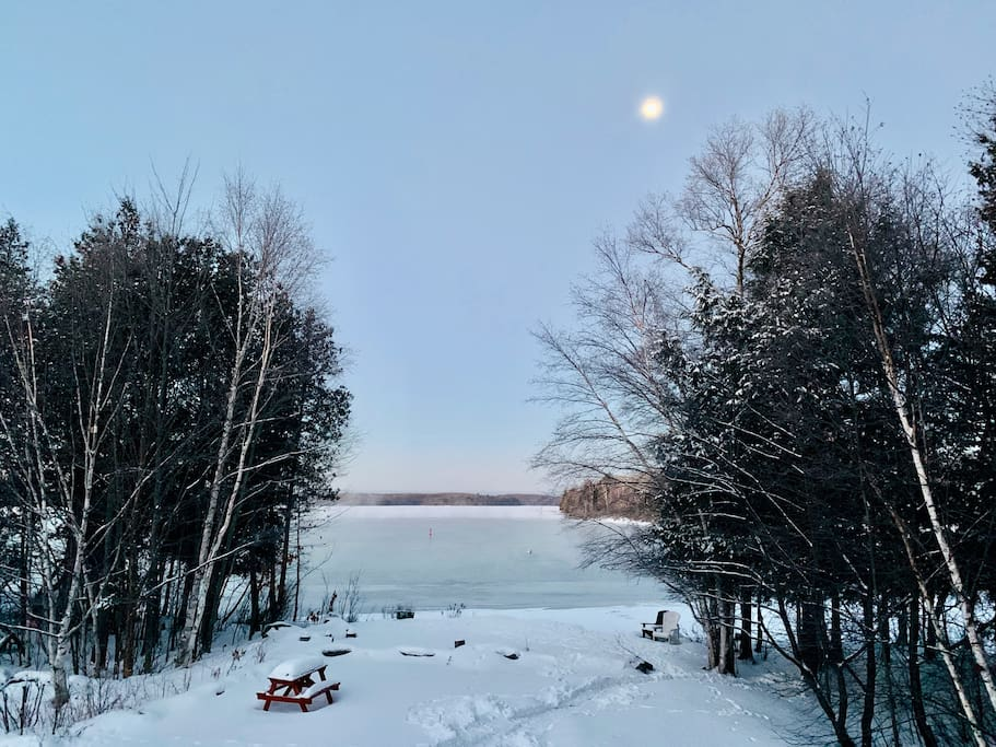 early morning view from deck on Christmas Day 2018