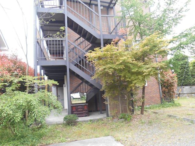 上高地、白馬岳等北アルプスの登山口に近い「森のハイジ」103号室 - Azumino-shi - Lägenhet