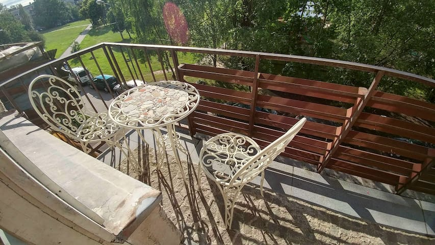 A balcony for your breakfast or evening wine glass..