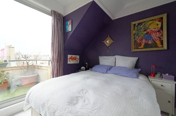 La chambre violette!